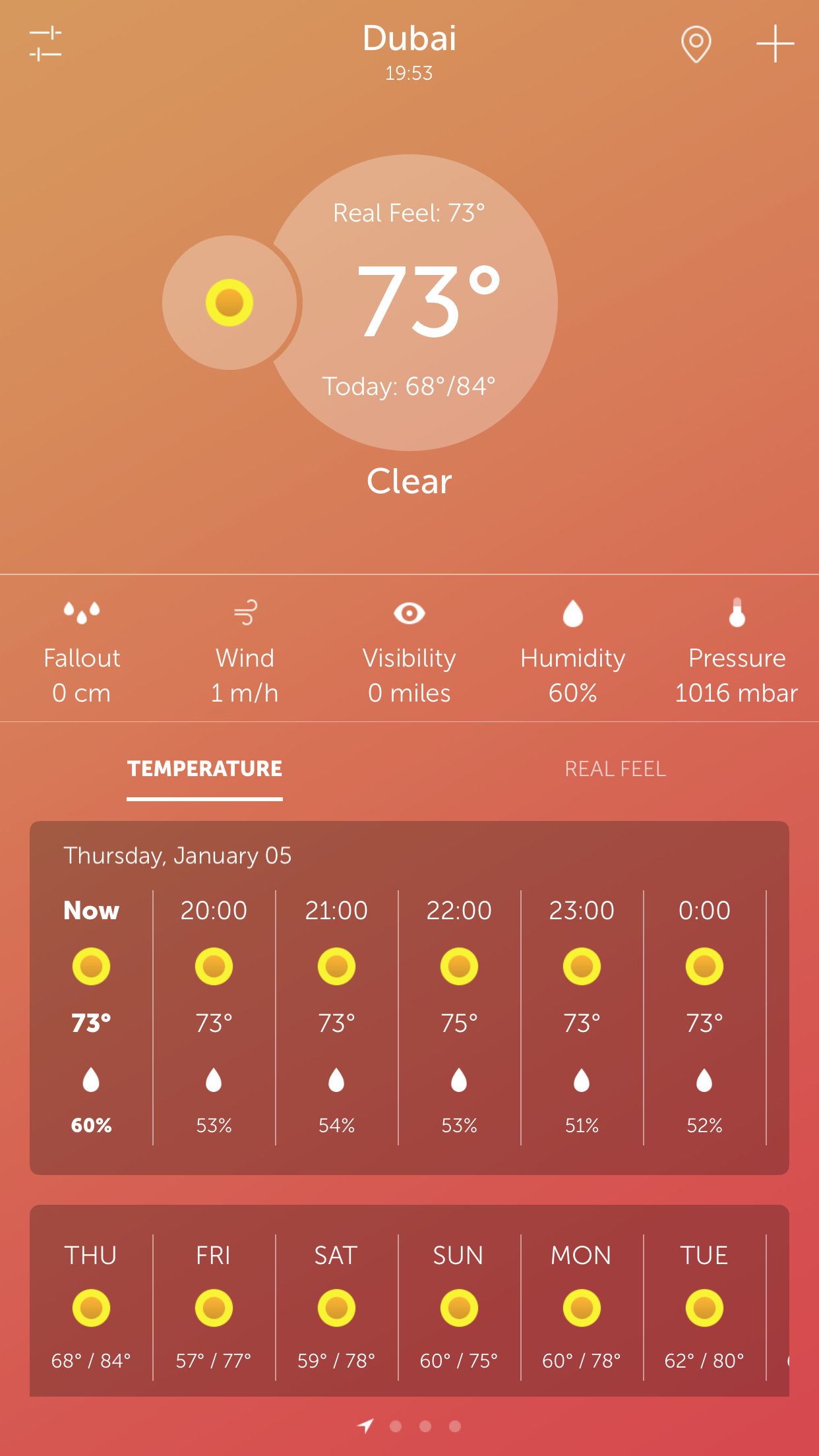 UltraWeather released - New reliable and stylish Weather Forecast App Image